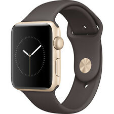 APPLE WATCH SERIES 2 MNPN2LL/A  42MM GOLD ALUMINUM CASE COCOA SPORT BAND NEW