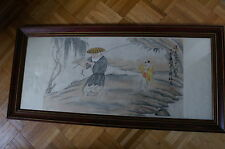 Vintage Qing Dynasty Chinese Painting By Zhang Xiong (張熊)