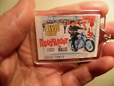 ELVIS PRESLEY         ROUSTABOUT       FILM POSTER  LARGE   KEY RING