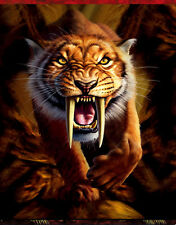 Sabertooth Tiger Lenticular 3D Picture Animal Poster Painting Wall Art Decor