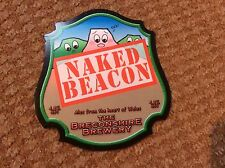 Naked Beacon Breconshire Brewery  -  Clip On Cover Badge