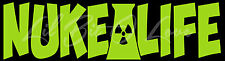 NUKE LIFE VINYL DECAL POWER PLANT NUCLEAR POWER STICKER FOR CAR AUTO VEHICLE
