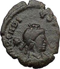 Arcadius  & Theodosius II & Honorius w spears  406AD Ancient  Roman Coin  i32791