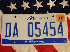 MICHIGAN license licence plate plates USA NUMBER AMERICAN REGISTRATION