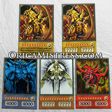 Yu-Gi-Oh! Custom Anime Orica - EGYPTIAN GODS #3 - 5 Card Set