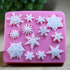 Snowflake Silicone Fondant Cake Molds Soap Chocolate Candy Moulds DIY Decorating