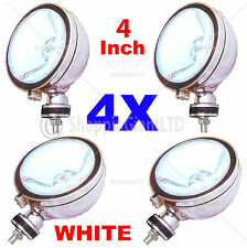 "4X 4"" WHITE Angel Eye Halogen H3 Spotlights Spot Fog Light Car Van Scooter Light"