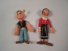 """Popeye And Olive Oil Bendable 3"""" Figures King Features Jesco China 1988"""