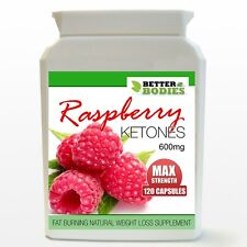 120 STRONG 600MG RASPBERRY KETONE MAX STRENGTH BOTTLE DIET WEIGHT LOSS SLIMMING