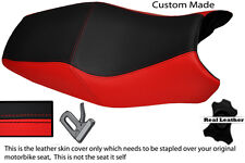 BLACK & RED CUSTOM FITS DUCATI ST2 ST4 DUAL REAL LEATHER SEAT COVER