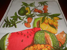 SOUVENIR VINTAGE LINEN/COTTON TEATOWEL 'TROPICAL FRUIT' BY ROSS BRAND NEW