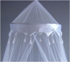 Nuevo Blanco Mosquito Fly Canopy Red Malla De Individual Doble King Bed Reino Unido