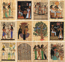 """Lot of 50 Egyptian Papyrus Paintings 7X9""""  Over 100 Hand-painted Assorted Scenes"""