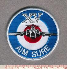 """ROYAL AIR FORCE 15 SQUADRON BUCCANEER """"AIM SURE"""" PATCH"""
