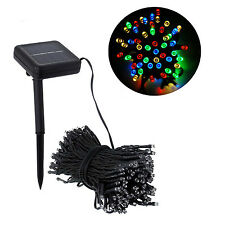 100 LED Color Solar Power Fairy Light String Lamp Xmas Party Wedding Party