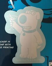 Family Guy Brian the Dog with Martini Car Window Sticker Decal Family 3""