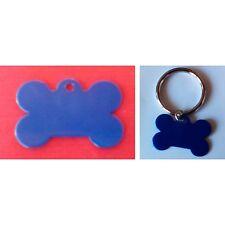Piastrina Colorata  Forma osso Blu con incisione