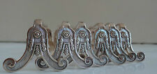 6 French Silverplated Christofle Knife rests Marie-Antoinette model