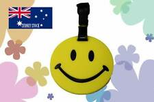 Happy Smiley Face Silicone PVC Cartoon Travel Luggage Tag School/Sport Bag ID