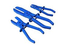 3pc Flexible Hands Free Brake Hose Pipe Clamp Plier Set Flexi Hose Radiator 6-30