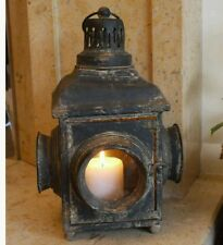 Lantern Candle Holder Black Home or Garden French Vintage Style Antique Large