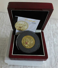2008 END OF WWI TDC PIEDFORT £5 SILVER PROOF CROWN - 4 rubies and sapphire