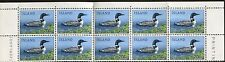 Block of 10 1967 Iceland Stamps 388 Cat Value $75 Gavia Immer Common Loon