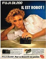 PUBLICITE ADVERTISING 095  1985  FUJI DL-200  appareil photo