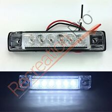 "4 NEW WHITE LED SLIM LINE LED UTILITY STRIP LIGHTS 6 LEDS 4""x1"" RV BOAT"
