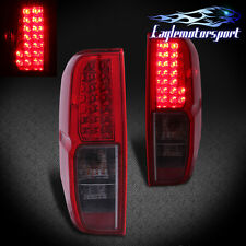 For 2005-2013 Nissan Frontier Red Smoke LED Tail Lights Rear Brake Lamps Pair