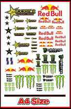 ENERGY DRINK STICKER SET A4 MOTOCROSS RC DRIFT CAR SLOT CAR MODEL SCENERY