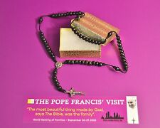 ST BENEDICT WOOD BLACK BEADS ROSARY HANDMADE BY NUNS AND BLESSED BY POPE FRANCIS