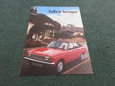 February 1980 TALBOT AVENGER - UK BROCHURE - LS / GL / GLS / ESTATE