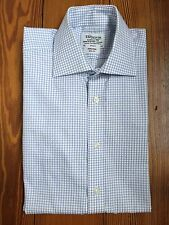"Men's T.M. Lewin, Non-iron, Slim Fit, Double Cuff, Shirt, 15"" Size"
