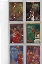 1994-95 Fleer Career Achievement 6 Cards Complete Set Ewing Pippen Malone +