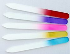 5pcs Rainbow Colorful Crystal Glass Nail File Manicure