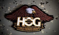 "HARLEY OWNERS GROUP ""HOG"" LARGE - BROWN EAGLE PATCH ""SHIPS INTERNATIONAL"""