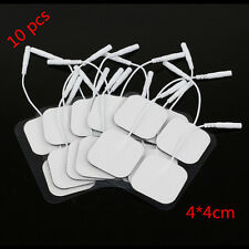 10 Pcs White Replacement Tens Electrode Pads Message Electrode Tens Units 4x4cm