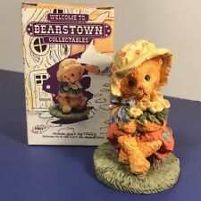 BEARSTOWN TEDDY BEAR FIGURINE COLLECTABLES NIB BOX FLOWER POT PRICE PRODUCTS CUB