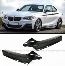 PERFORMANCE STYLE CARBON FIBER BUMPER SPLITTER FOR 2014-16 BMW F22 M SPORT PKG