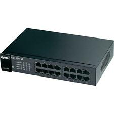 ZyXEL GS1100-16 Ethernet Switch - 16 Ports - 16 x RJ-45 - 10/100/1000Base-T