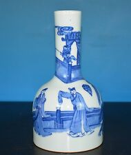 FINE ANTIQUE CHINESE BLUE AND WHITE PORCELAIN VASE MARKED RARE M6916