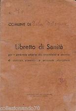 LIBRETTO DI SANITA' X IL PERSONALE ADETTO AGLI ALIMENTARI-SALA BOLOGNESE ANNO 46