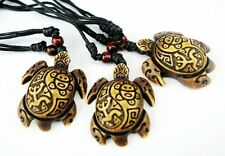 10 PCS Biker Cool Taino Tribal Longevity Turtle Sun Lucky Frog Embossed Necklace
