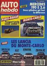 AUTO HEBDO n°557 du 21 Janvier 1987 ESSAI course DELTA S4 037 STRATOS FULVIA HF