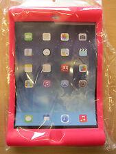 Rose foncé enfants / enfants / jeunes enfants en caoutchouc Bounce peau impact coque pour Apple iPad Air