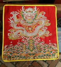 Tibetan Buddhist Red dragon table mat/shrine cloth/Table Cover/Altar Cloth/cover