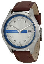 Armani Exchange AX2134 Hampton White Dial Brown Leather Strap Men's Watch