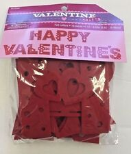 "HAPPY VALENTINE""S felt red letters bulletin board classroom decor teacher supply"
