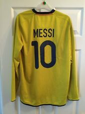 *M* 2008/09 BARCELONA Away MESSI #10 Football L/S Shirt